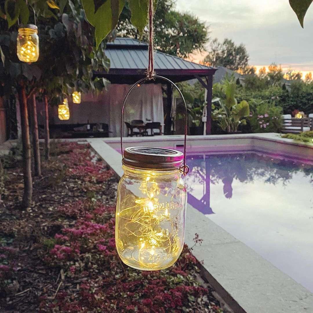 lady landscape mason jars