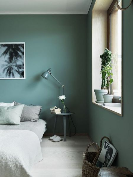 Calm And Collected Blue Green Painted Bedroom