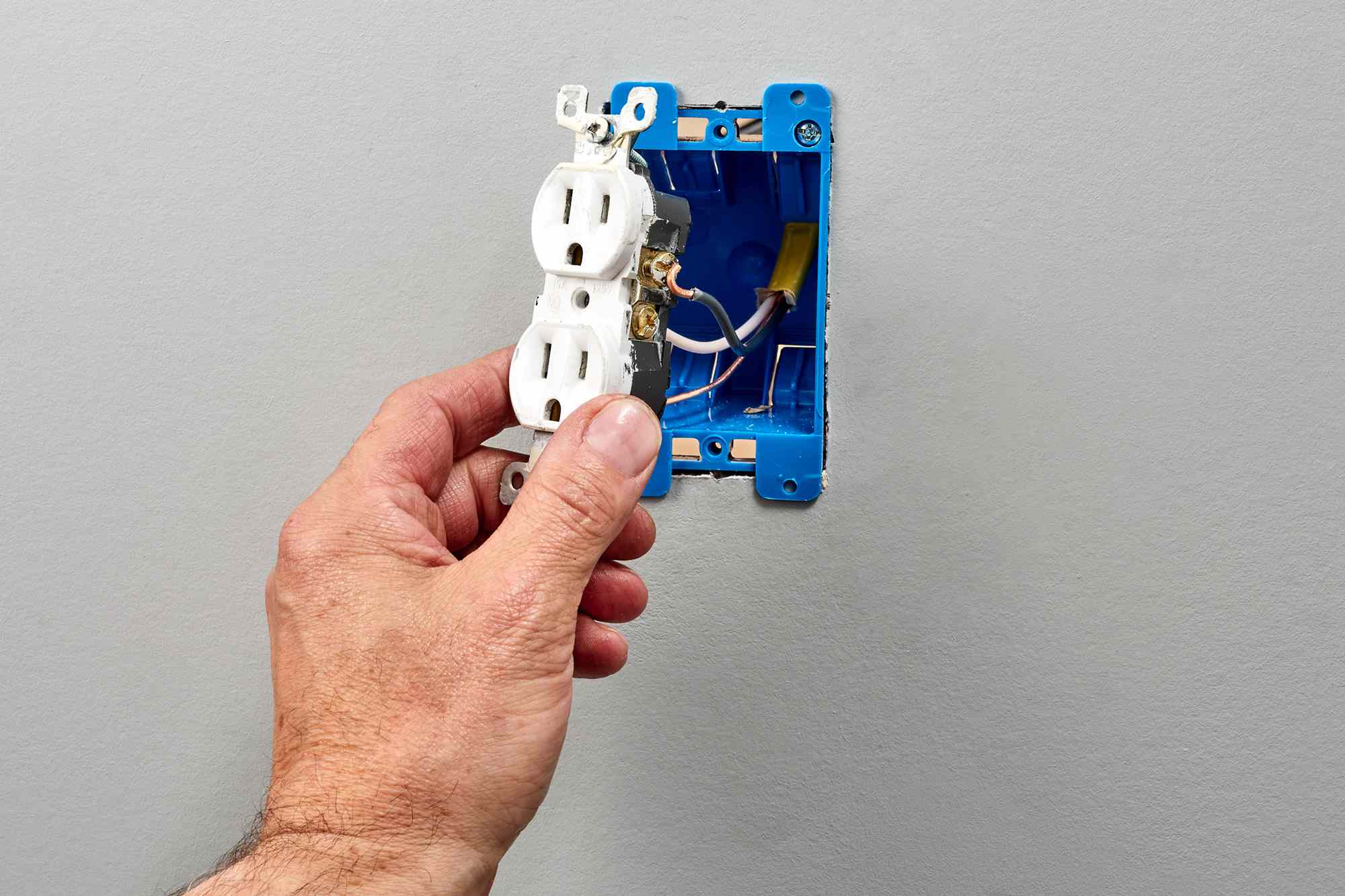 Warm outlet wires checked for disconnections