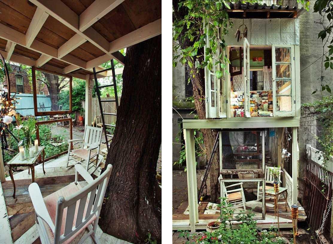 Casa en el árbol de dos pisos
