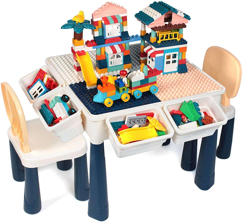 GobiDex 7 in 1 Multi Kids Activity Table Set