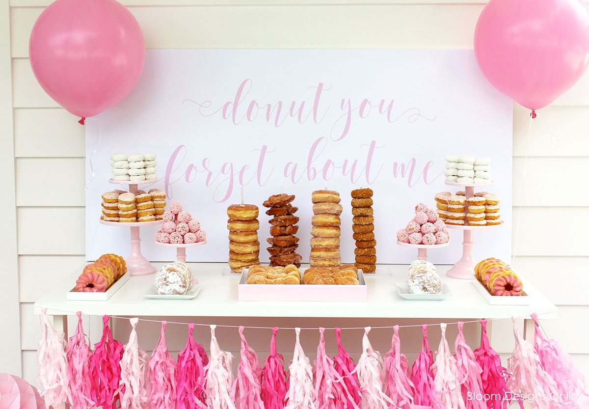 Donut table for a graduation party