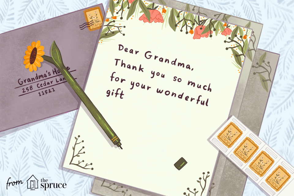 sample thank you cards illustration