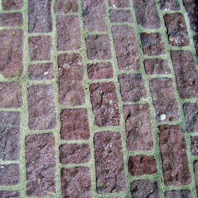 rustic bricks for patio paving
