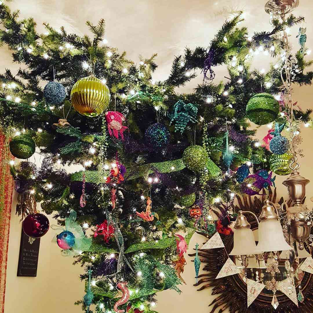 Branch style upside Christmas tree
