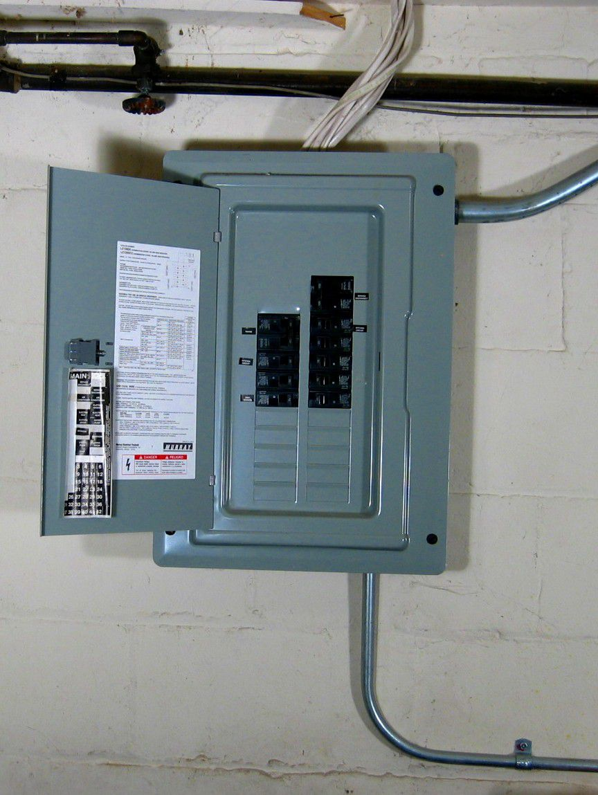load center or service panel