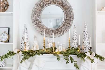 perfect christmas mantel
