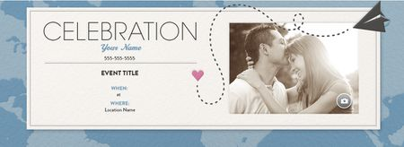 Free online wedding invitations an online wedding invitation with a paper airplane and a heart stopboris Image collections