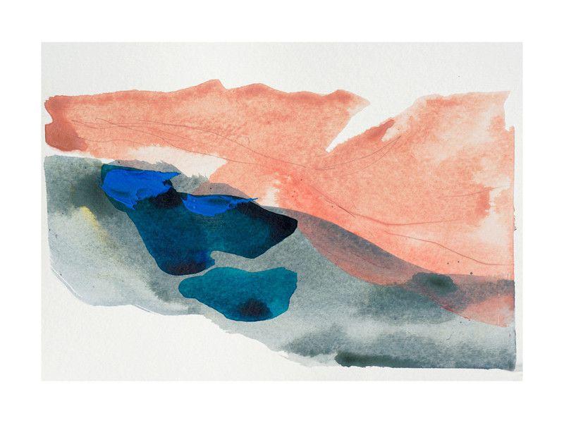 Morning River artwork by Lauren Adams in a frame.