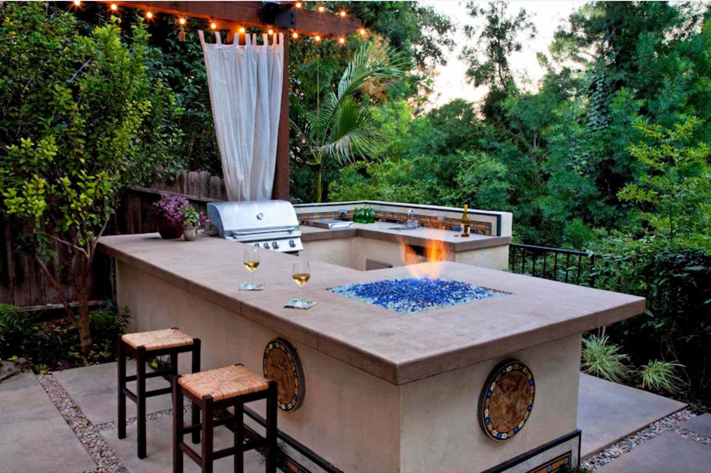 al aire libre cocina y bar