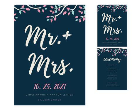 Free Wedding Program Templates You Can Customize - Wedding program sign template