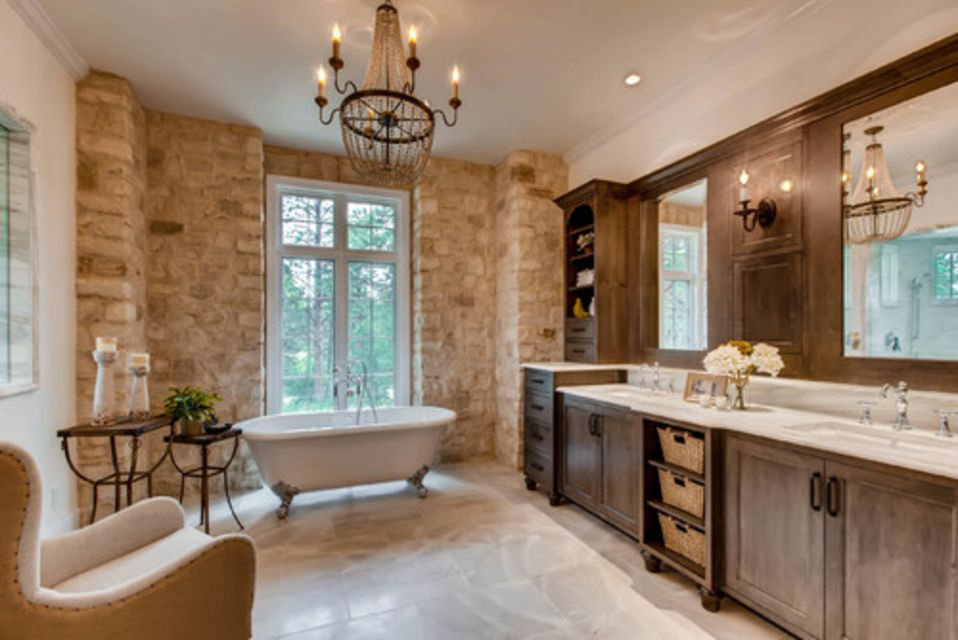 19 french country bathroom design ideas. Black Bedroom Furniture Sets. Home Design Ideas