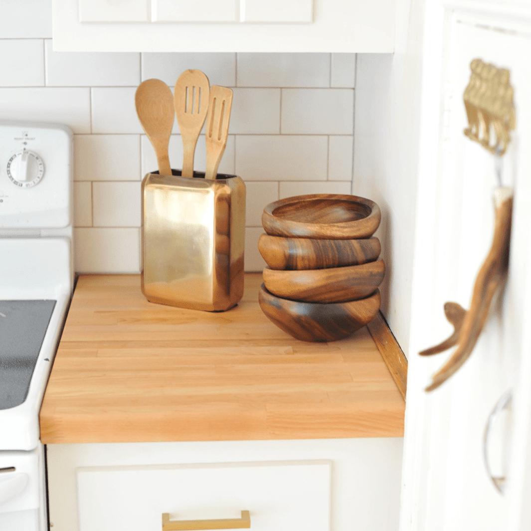 DIY Brass Cabinet Pulls