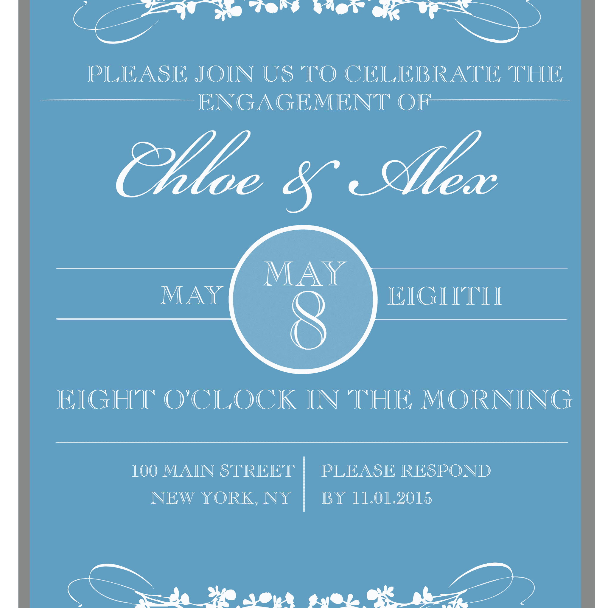 9 Printable Engagement Party Invitations