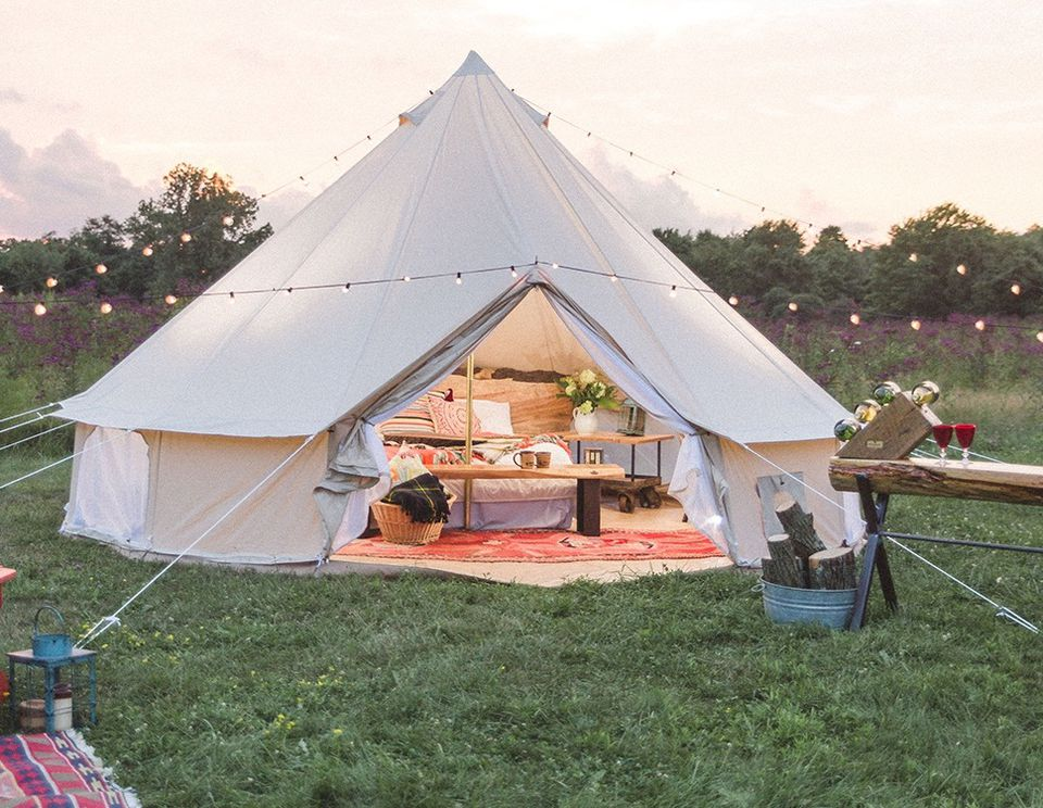 A glamorous camping tent