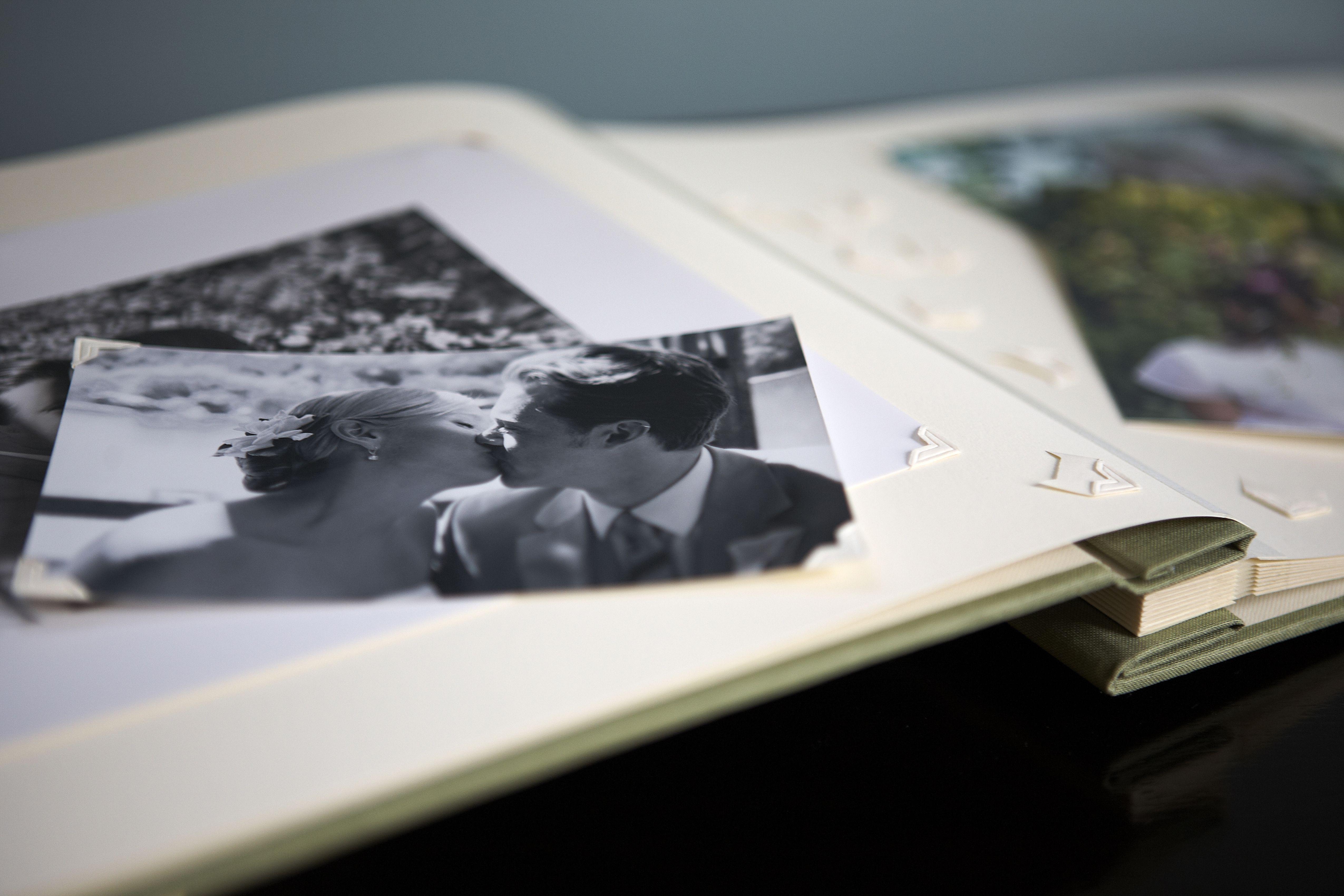 First Anniversary Gift Ideas: Wedding photo album and scrap book
