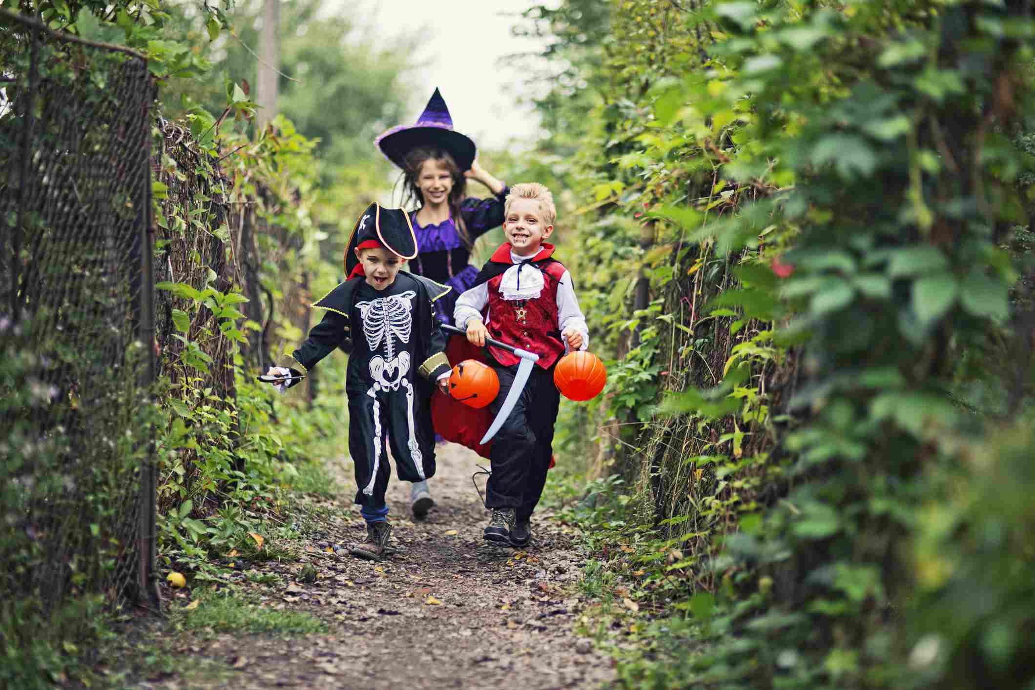 Running trick or treaters