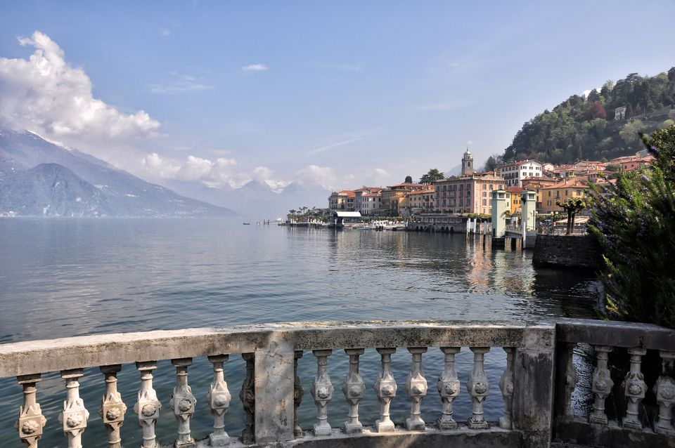balustrade at Lake Como