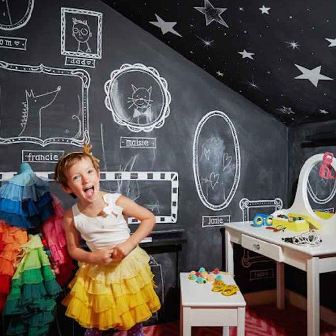 Chalk Wall Kids Room
