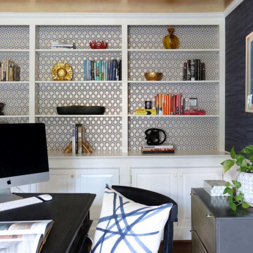 Boldly designed home office