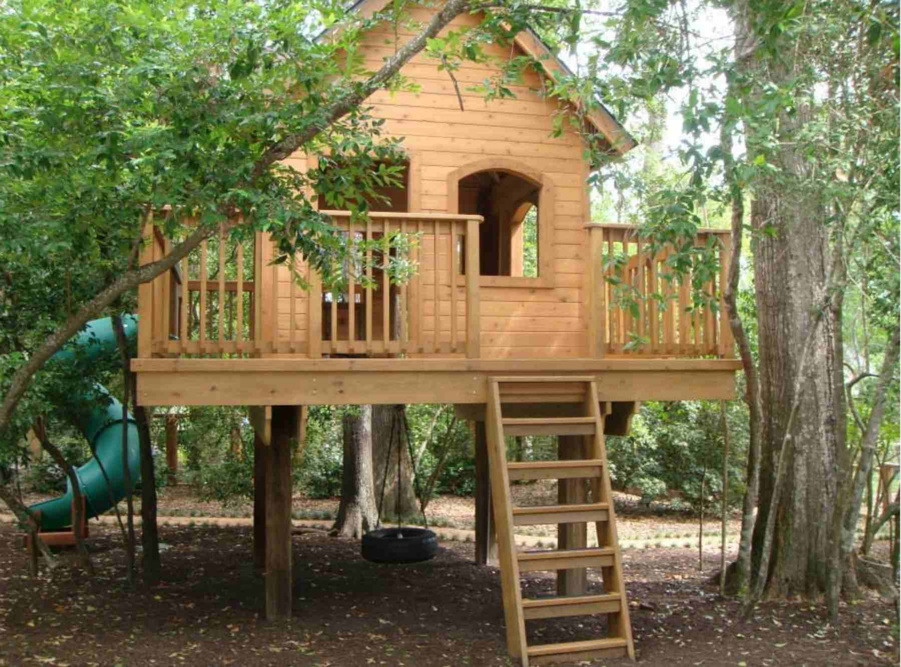 kids treehouse design for yard