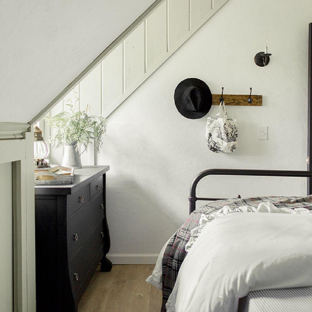 Attic farmhouse bedroom