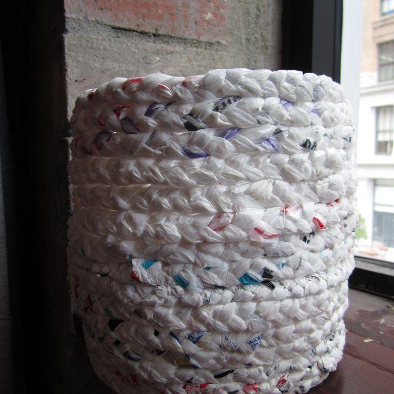 Plastic basket DIY.