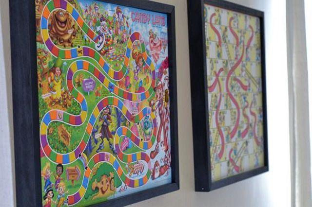 Game board wall art