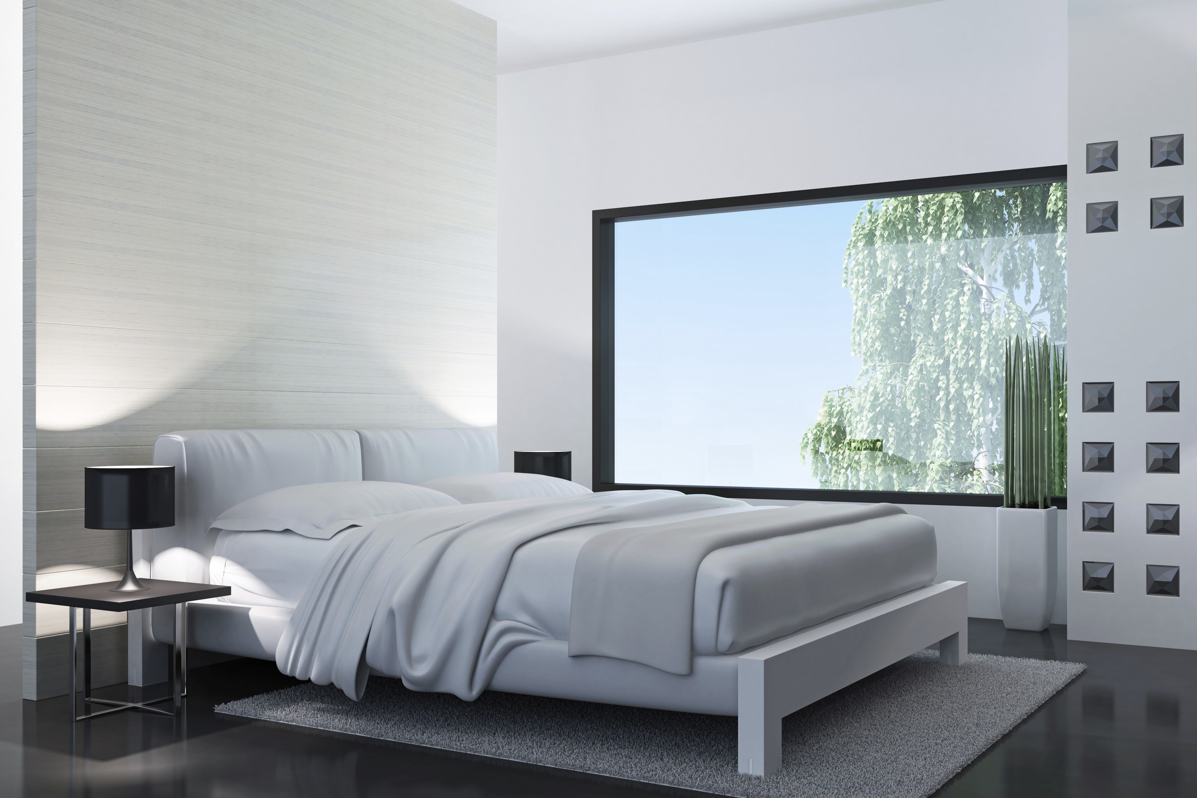 Habitación blanca moderna