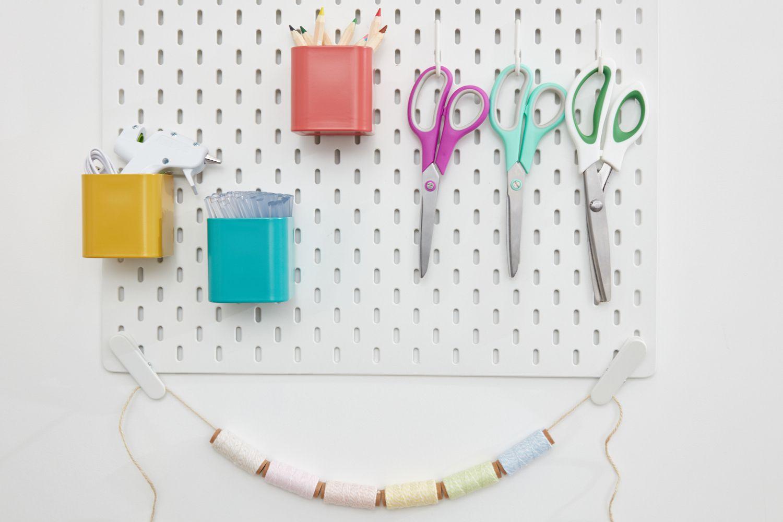 Organized craft peg board