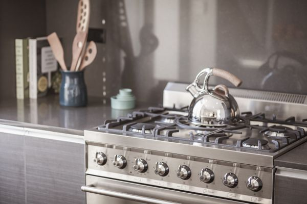 Tea kettle on the stove