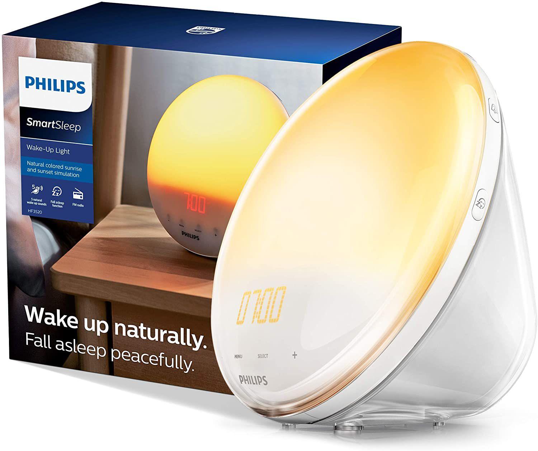 Philips SmartSleep Wake-Up Light with Colored Sunrise Simulation