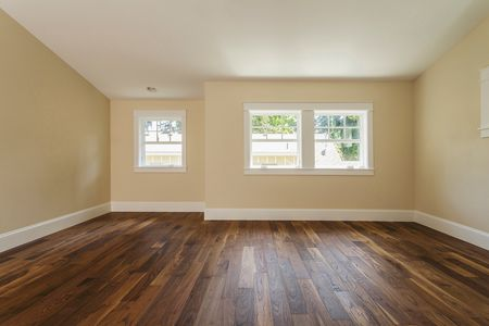 Wooden Floor In Empty Bedroom