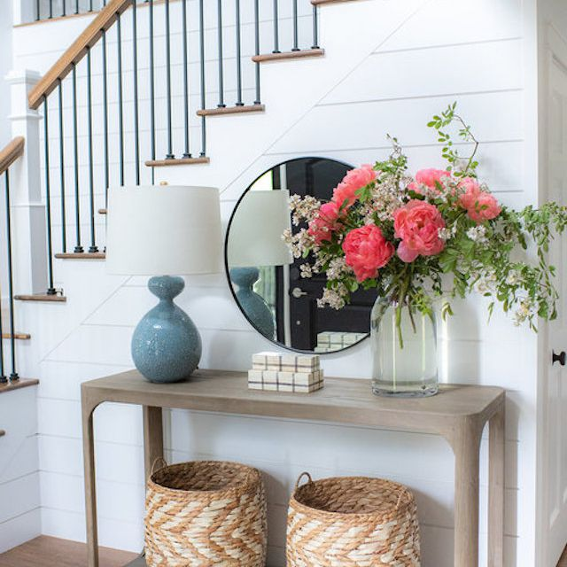 Entryway with table lamp by Light and Dwell
