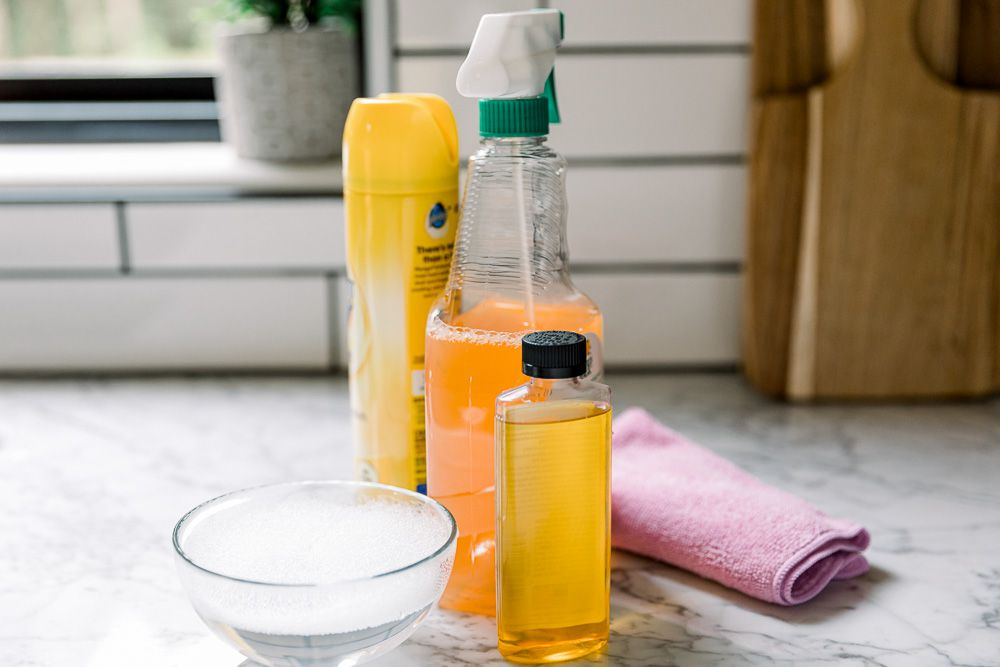 cleaning solvents for wooden cabinets