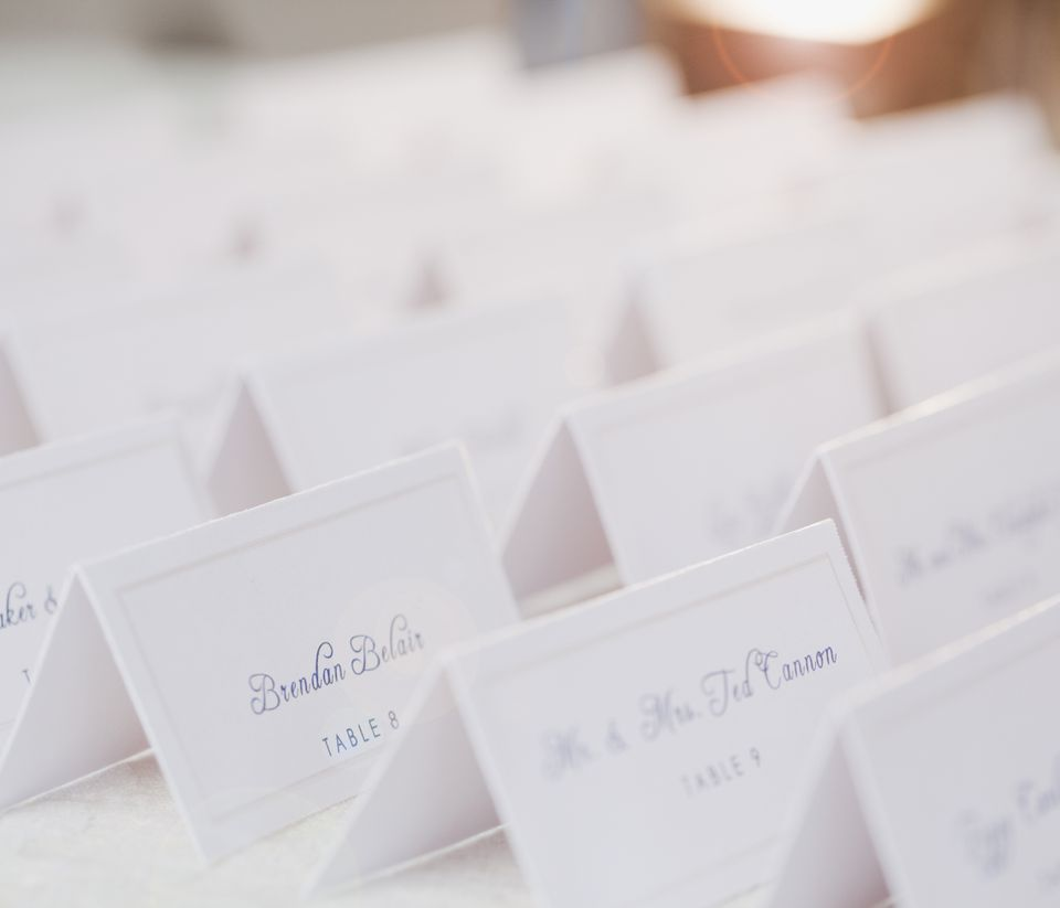 Plain wedding escort cards