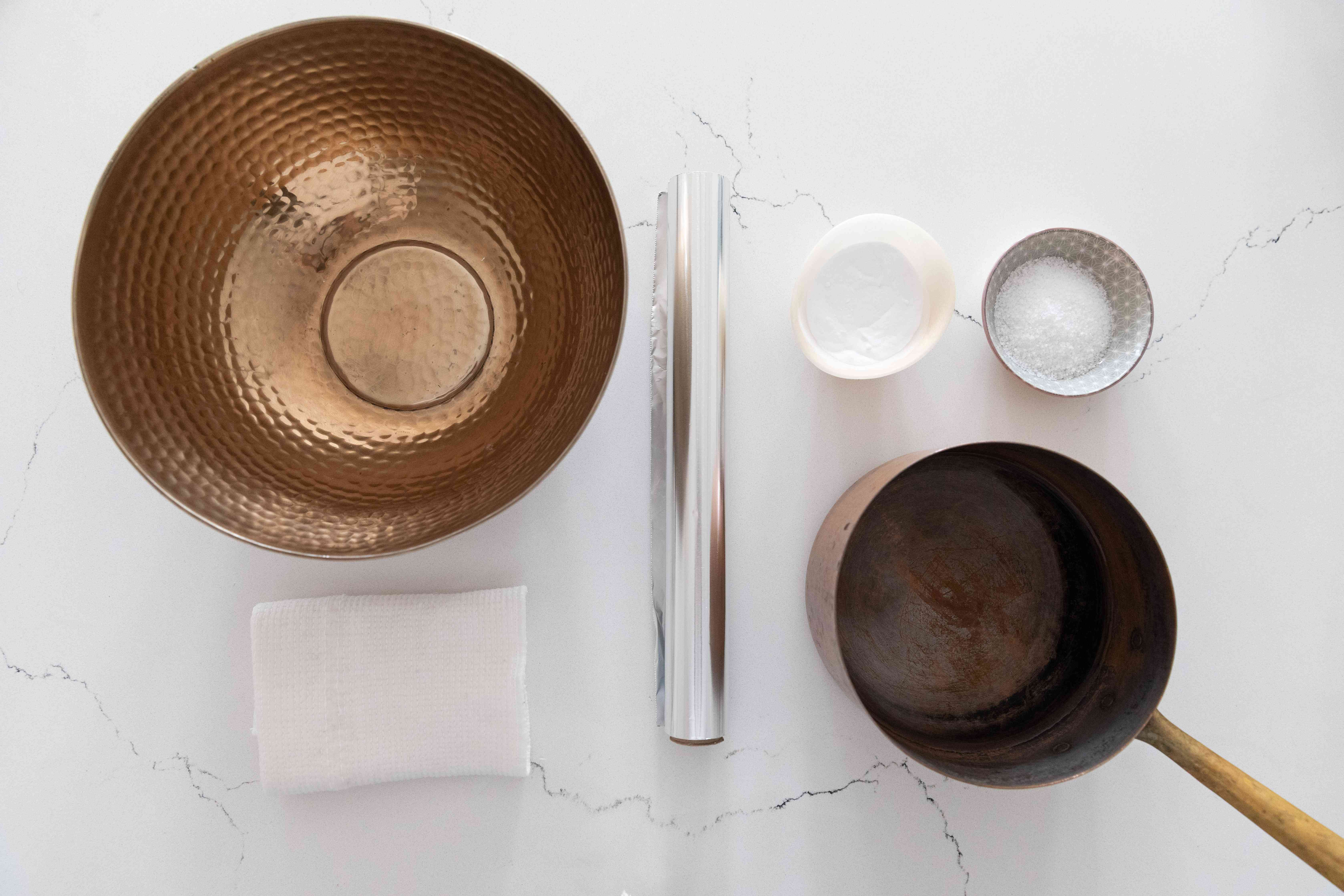 materials for cleaning tarnished silver