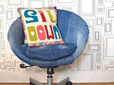 Ikea Skruvsta Denim Chair Hack