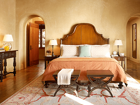 Mediterranean Style Bedroom Designed By Susan Schippman For Scavullo Design