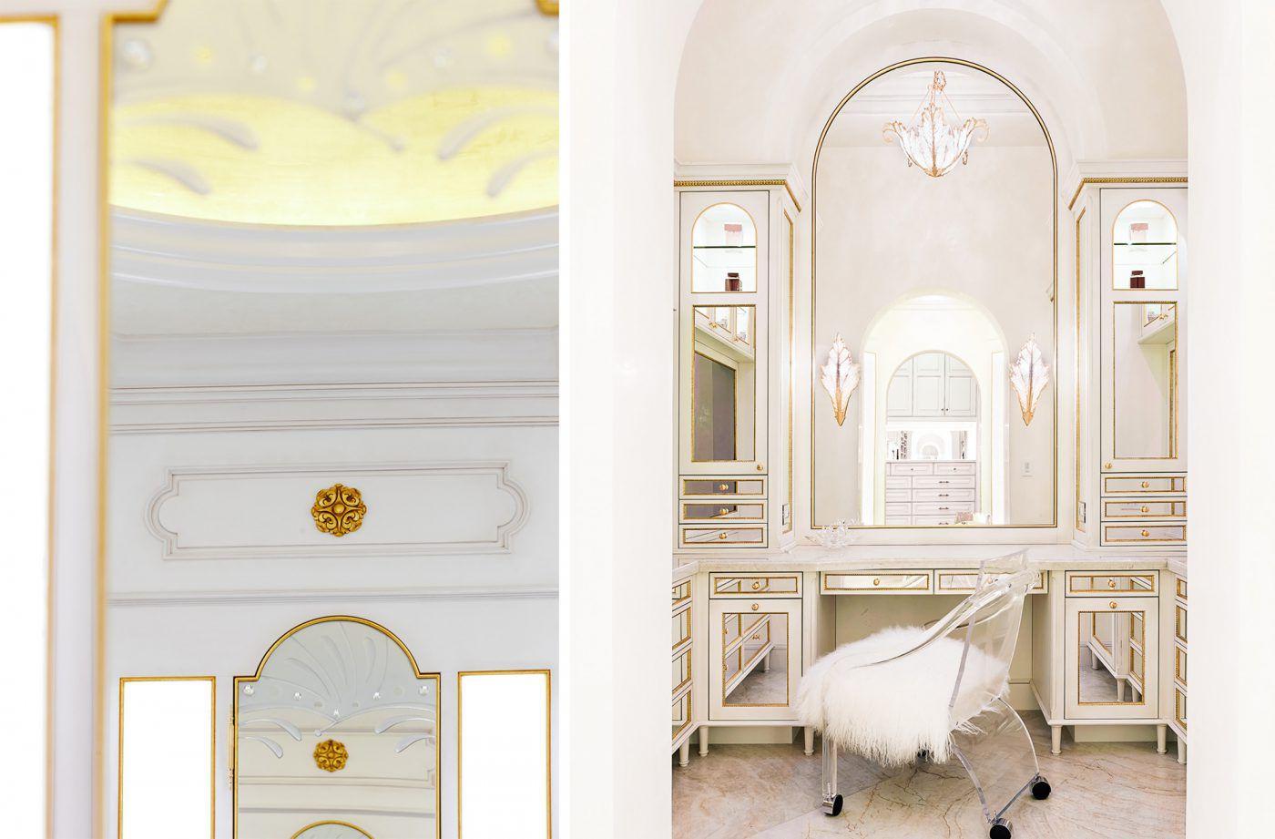 White-and-gold-mirrored-vanity