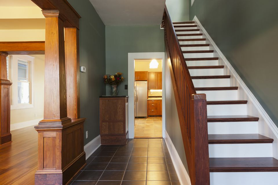 Stairs and corridor in a new house