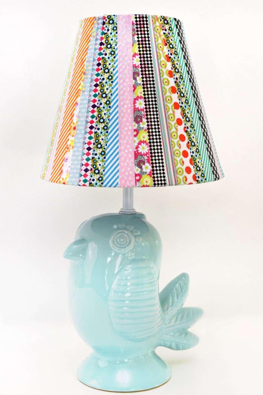 DIY Washi Tape lamp shade