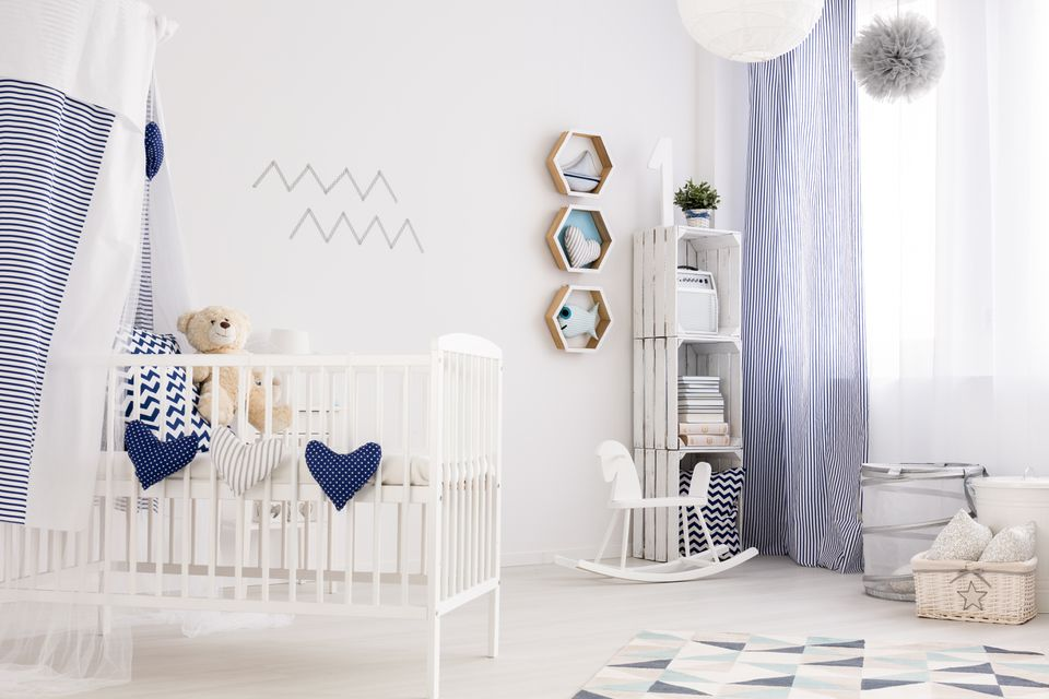 Nautical baby room