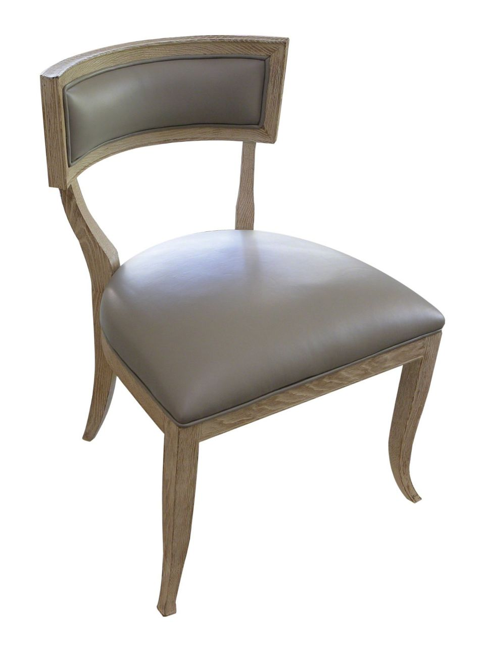 Global Views Klismos Chair With Grey Leather