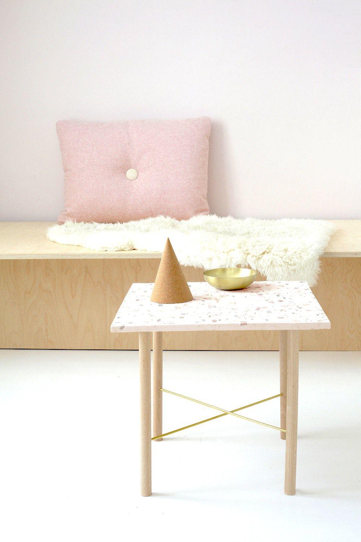 DIY terrazzo coffee table