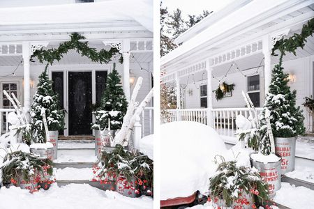 snowy christmas front porch - Christmas Front Porch