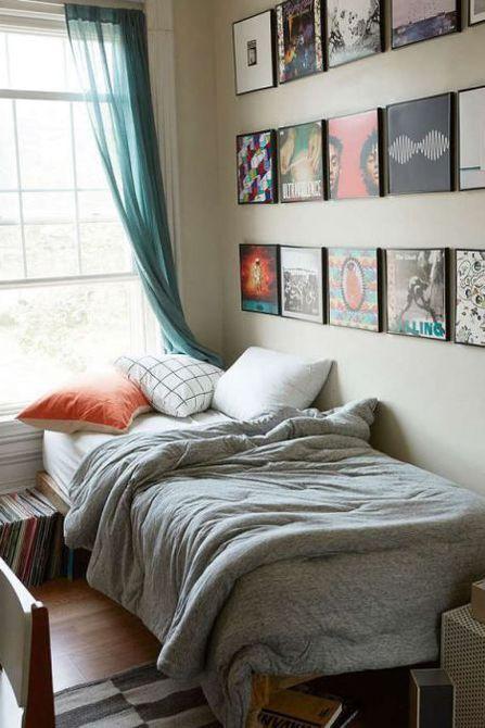 Decoración del dormitorio del arte de la pared de grabación