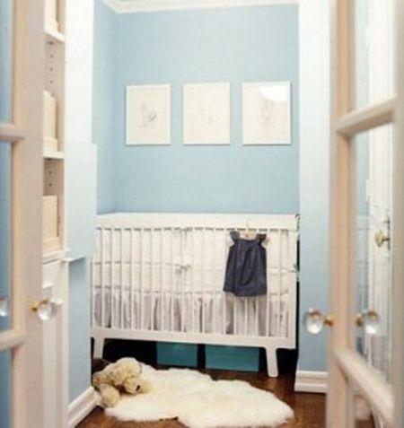 Closet Nursery With Gl Doors
