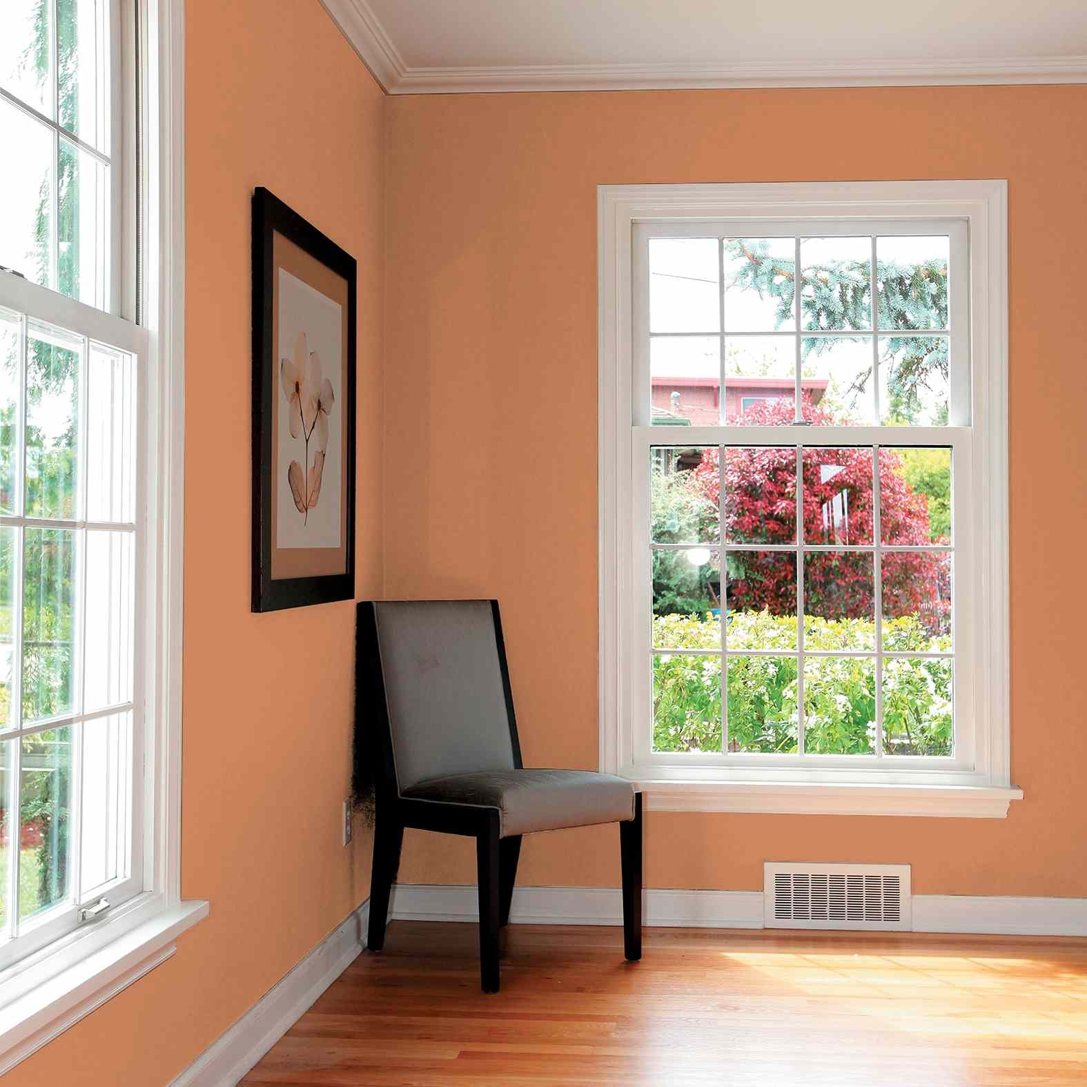 Room with Georgian Leather paint by PPG/Glidden