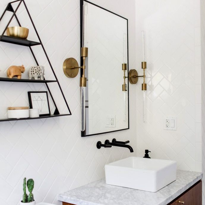 Bathroom with tile on the walls